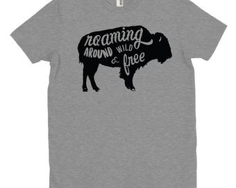 Buffalo - Roaming Around Wild and Free - T-Shirt