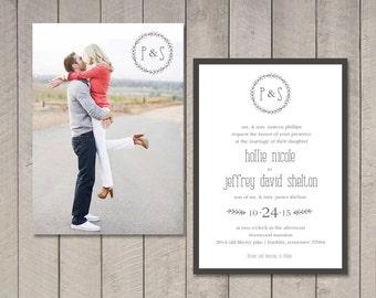 Wedding Invitation (Printable) DIY by Vintage Sweet