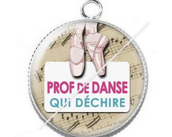 Pendant cabochon resin for a dance teacher 8