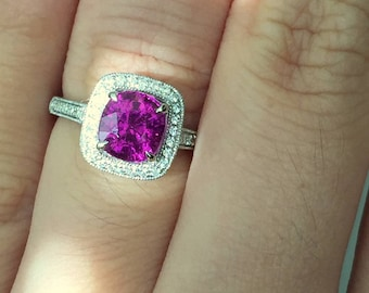 1.71ct Purple Garnet Legacy Ring - Special Vivid Purple Color!