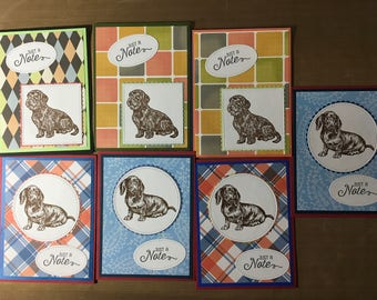 Set of 7 Dachshund note cards #5