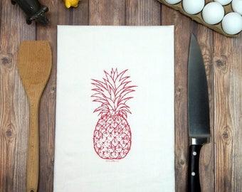 Pineapple Flour Sack Tea Towel - Hospitality