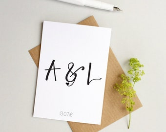 Personalised wedding card - Custom Wedding card - Personalized wedding card - Happily ever after card - Custom Anniversary card - Valentines