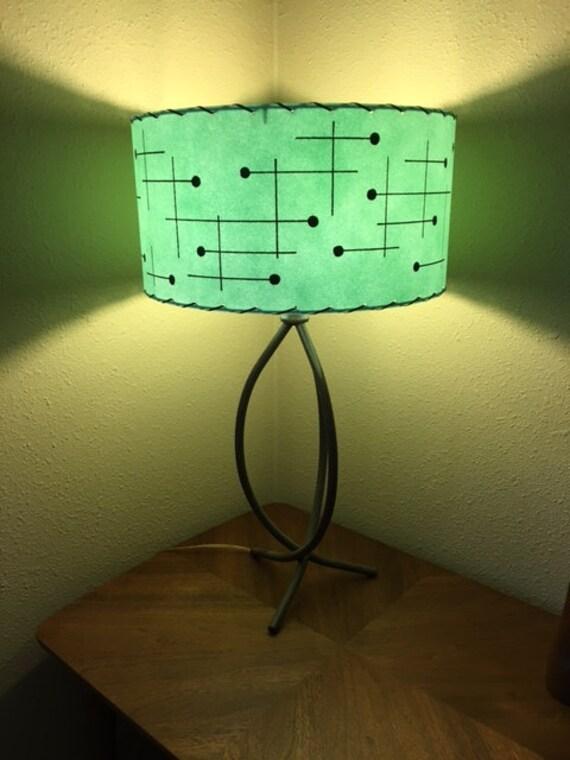 Mid Century Style Fiberglass Lamp Shade Retro Modern Sea Foam