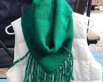 Christmas Green Cowl - irregular