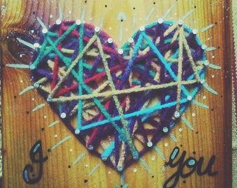 I <3 You - String Art Love Collection