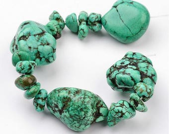 """Very Large Turquoise Nuggets - 7-1/2-8"""""""