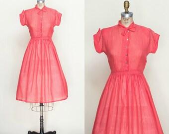 1950s Pink Day Dress XS