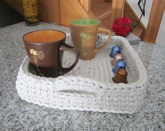 Square yarn basket, kitchen storage, bathroom storage, mother day gift, housewares, new home gift idea, crochet storage basket