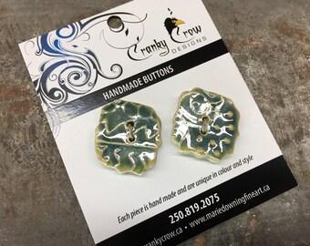 Stoneware Buttons, handmade buttons, handmade stoneware buttons