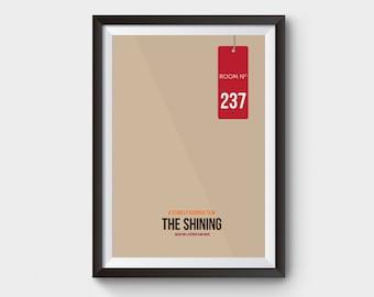 THE SHINING - A3 movie poster, film poster, stanley kubrick, stephen king, horror film, jack nicholson, minimalist movie poster
