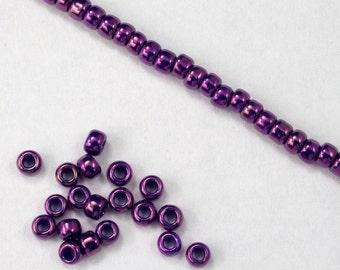 8/0 Metallic Violet Seed Bead (20 gram) #JFP008