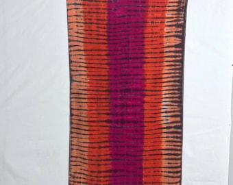 Tie Dye Towel, Extra Large Beach Sheet, Trippy Terry Velour Towel, Hippie Tiger Beach Sheet