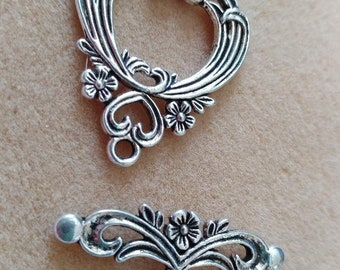 Antique Silver Toggle Clasp
