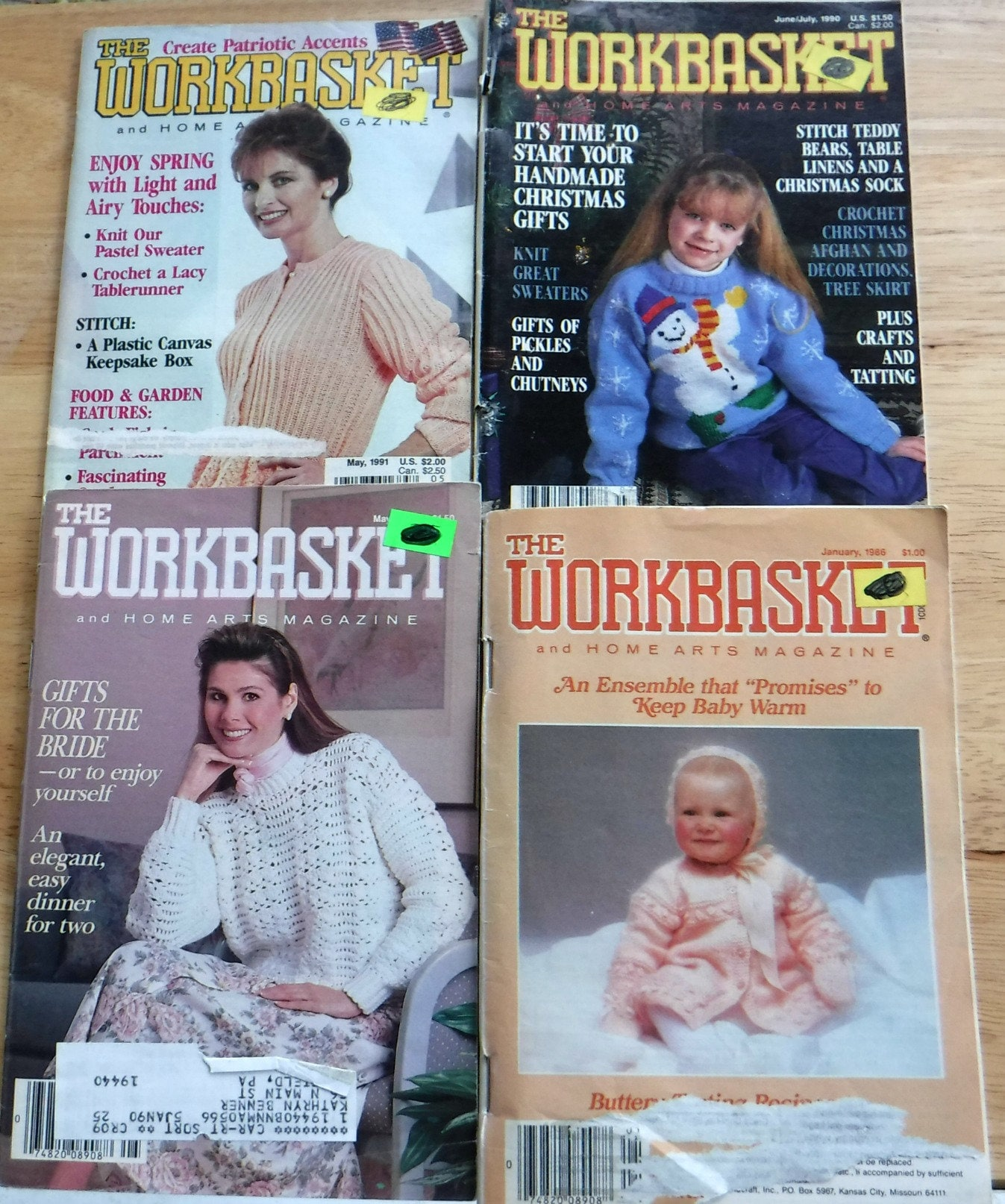 Lot of 12 1980s 1990s The workbasket and home arts magazine, vintage ...
