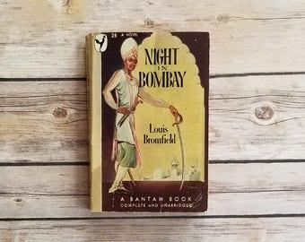 Night In Bombay Louis Bromfield 1930s Bombay Novel Taj Mahal Hotel Indian Novel 40s American In India Love Triangle Diwali Gift Deepavali
