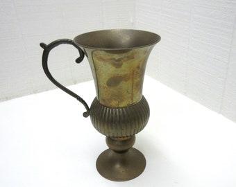 Vintage Brass Urn Vase