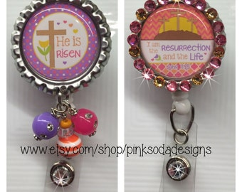 He Is Risen - Retractable ID Badge Holder