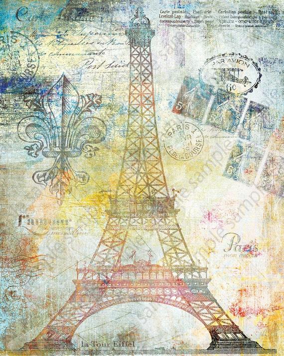 Nice Wall Art Paris Theme Vignette - Wall Art Collections ...