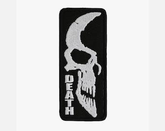 Dead skull embroidery biker patch