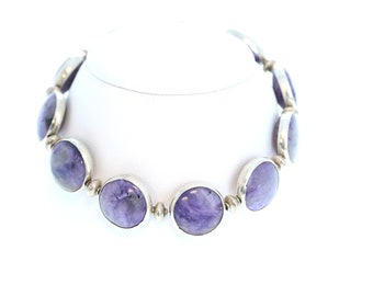 CHAROITE and STERLING SILVER Bracelet NewWorldGems