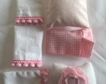 Miniature Pink and WHite Pillow and Pillowcase Destashing Sale