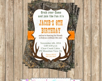 Realtree invitation Etsy
