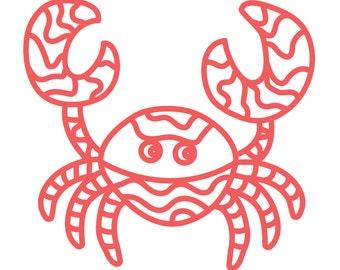 Crab Cut File .SVG .DXF .PNG