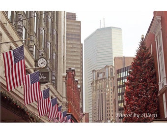 Filene's Boston Christmas card, downtown crossing