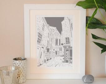 York Minster print – York architecture – Cathedral art – Wedding present – York landmark – housewarming gift – bon voyage gift –papercut
