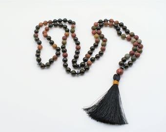 108 bead mala|Guardian Earth Mala|Yoga Meditation Jewelry|Meditation necklace|Japamala|spiritual jewelry|prayer beads|buddhist mala