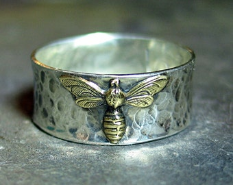 Bee Ring in Sterling Silver - Bee My Honey