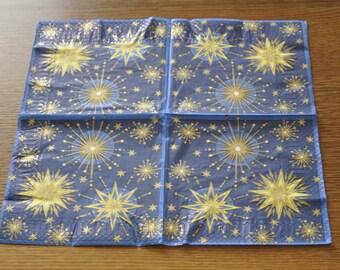 gold stars napkins
