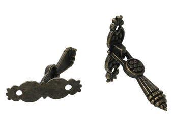 20 x Retro Furniture button knock grasped drawer handle Antique Brass 52 x 11 mm