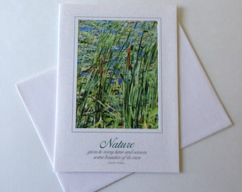 Marshland Photo Note Card Blank Inside Inspirational Quote