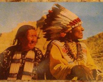 Antique RPPC American Indian Native American original photograph postcard
