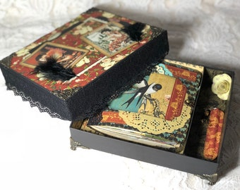 Junk journal in the box-Graphic45-Bird song-vintage