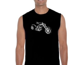 Men's Sleeveless Shirt - MOTORCYCLE