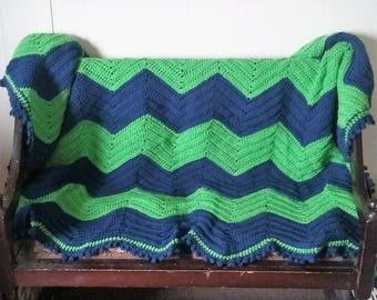 Picot Ripple Blanket