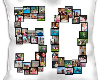 Large Instagram Personalised Photo Collage printed on 60cm or 45cm sq Cushion