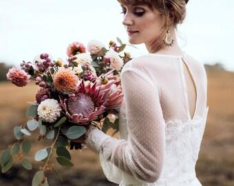 Statement Earrings, Bridal Jewelry, Wedding Earrings, Crochet Earrings, Agate Chandelier, Dangle Earrings, Mothers Day Gift, White Earrings