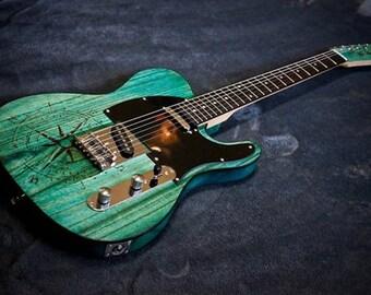 Nautilus Style custom built guitar-Swamp Ash Body and Rosewood Fretboard