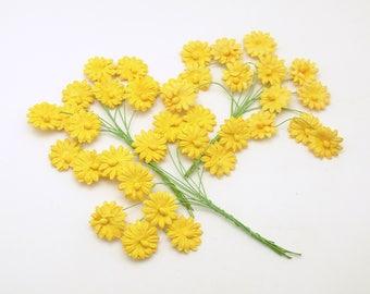 Paper Flowers on Picks Daisies Daisy Picks