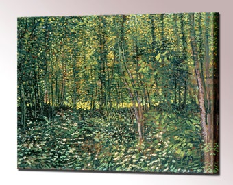 Van Gogh Undergrowth Trees in the Undergrowth Wall Decor Canvas Print Vincent Van Gogh Wall Art Print Ready to Hang