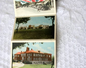 Vintage 1950's Guelph Souvenir Folder, Guelph Ontario, with stamp, University of Guelph, Guelph Postcard
