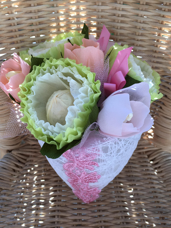 Handmadebysusanna Crepe Paper Flowers Green Flowers