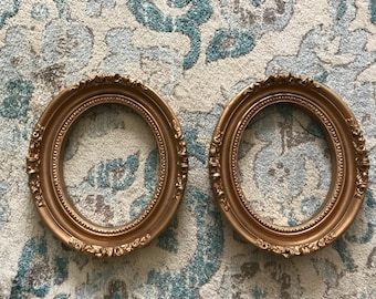 Ornate Gold Oval Frame (Set of 2)