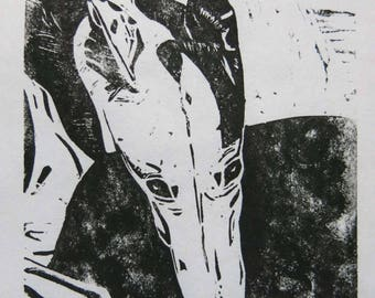 BirdsforBirds Phoebe greyhound art block print