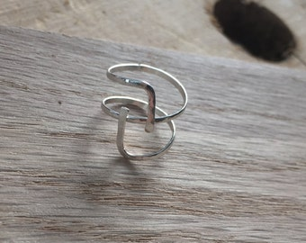 Sterling Silver Anguli Ring - Adjustable, Handmade & Hammered