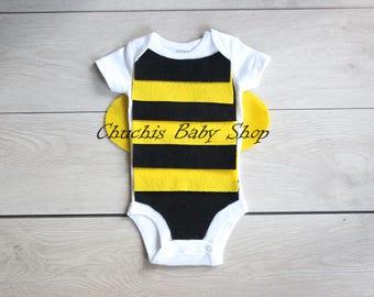 Baby Bee onesie Baby Halloween outfit Baby Bee costume baby costume baby Halloween costume